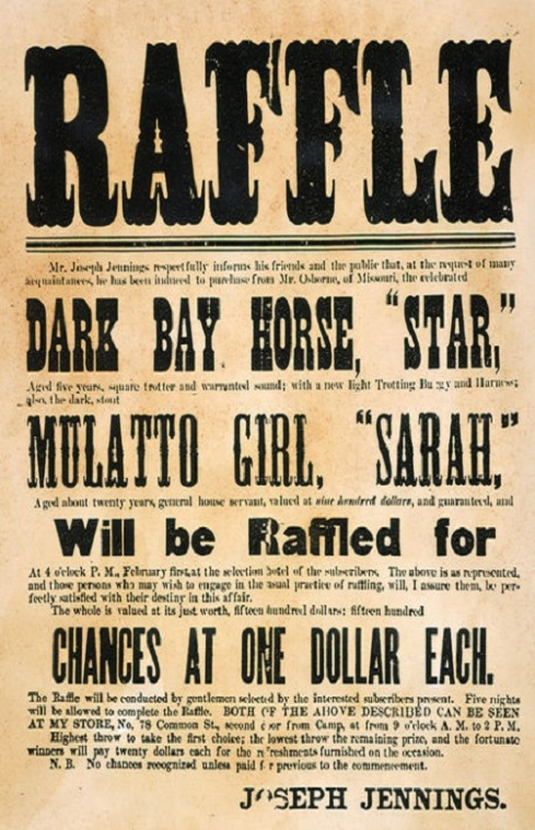 SLAVE RAFFLE